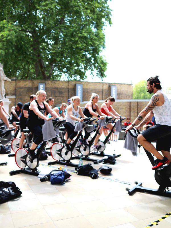 Outdoor charity u-cycle spinathon!
